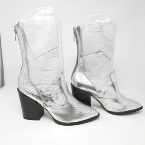 Shoes - Clear Silver Boots